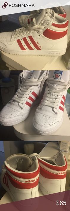 Adidas top ten White and red adidas Shoes Sneakers