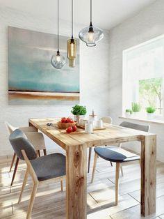 Decoração escandinava para a sala de jantar. #scandinaviandecor #decoração #decor #homedesign