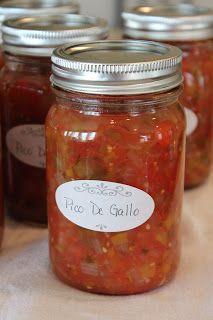 Canned Pico De Gallo - Life in a Little Red Farmhouse More