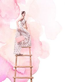 Dos tecnicas en una digital y a manofashion editorial inspiration / illustration inspiration