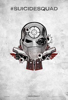 Harley Quinn's Tattoo Parlour - New Suicide Squad Poster for Deadshot played by Will Smith Harley Quinn, Joker And Harley, Dc Tattoo, Comic Tattoo, Tattoo Outline, Harley Tattoos, Ronin Samurai, Tattoo Posters, Image Internet