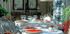 Villa Marie St Tropez, dining outside.