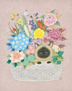 Art And Illustration, Korean Art, Asian Art, Coaster Art, Thai Art, Art Template, Nature Prints, Cute Wallpapers, Cute Art