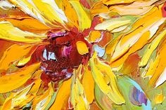 Original SunFlowers oil painting on canvas by Karensfineart