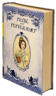 pride and peppermint book-shaped tea tins novelteas puns