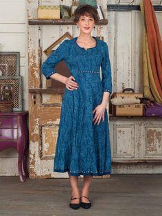 Indigo Ladies Dress | Ladies, Dresses  :Beautiful Designs by April Cornell