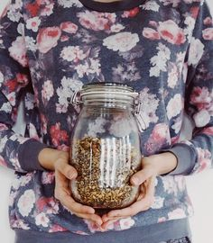 Apfel-Mohn-Granola - Mason Jars, Mugs, Tableware, Food, Poppy Seed Recipes, Apple Recipes, Canning, Homemade, Dinnerware