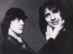 Angus Young & Bon Scott legends of AC/DC