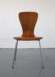 A Nikke chair designed in 1958 by Tapio Wirkkala, Finland. Veneered plywood.