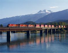 CP at Revelstoke, B.C. Freight Transport, Canadian Pacific Railway, Locomotive, Paths, Trains, Westerns, United States, America, Locs
