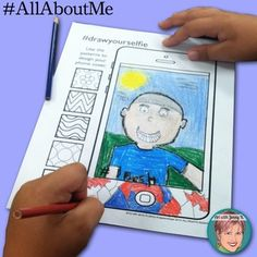 Back to school - All About Me activity for the Century child. Art integration lessons like this selfie drawing and writing activity really engage learners. School Icebreakers, Icebreaker Activities, All About Me Activities, First Day Of School Activities, Back To School Art, Art School, Lessons For Kids, Art Lessons, Arts Integration