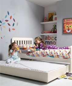 Bay Single Bed with Sleepover Trundle including 2 Mattresses - Toddler Beds & Kids Beds - Mamas & Papas
