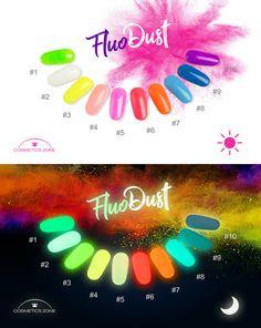 Fluo Dust - Pyłek Fluorescencyjny Cosmetics Zone #CosmeticsZone #FluoDust #Fluo #nails #paznokcie #colorful #fluonails