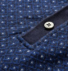 Etro Jacquard-Knit Cotton and Cashmere-Blend Polo Shirt Camisa Polo, Polo T Shirts, Cool Shirts, Mens Designer Polo Shirts, Pullover Designs, Knit Patterns, Man Fashion, Fashion Trends, Menswear Trends