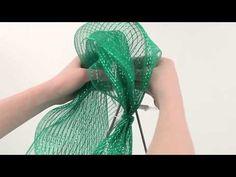 How to Make a Deco Mesh Christmas Tree - YouTube