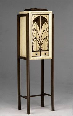 Art Deco Drinks Cabinet    An 'Art Deco' inspired drinks cabinet, with two drawers, in black burr walnut and fiddle back sycamore. By Andrew Varah