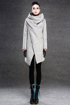 Gray coats jackets winter coats for women by YL1dress on Etsy, $168.00