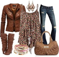 """Floral Fantasy"" by stay-at-home-mom on Polyvore. I rly love this. Simple rue 21 blouse. And Maurice shoes and jacket! Wallla!"