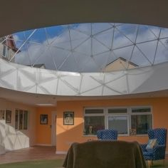 We spoke to architect Tim Worsfold about his success in using a Solardome skylight to improve quality of life for residents at a care home in Wales. Construction News, Social Housing, Geodesic Dome, Dream Life, Health Care, Skylights, Ceiling Lights, Architecture, Case Study