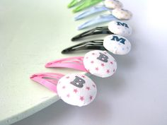 Girls personalized hair clips girls initial hair clips  by TsuraLi, $7.50