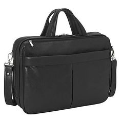 Royce 'Blair' Genuine 15-inch Laptop Briefcase