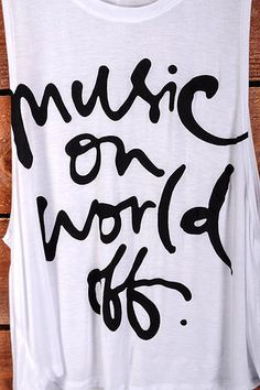 Music on world off tank $19.99