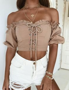 f0789665fa44 Tauri Off The Shoulder Top Ootd Fashion