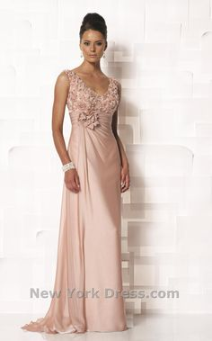 Mother of the Bride, maybe? blush gown with great details /Cameron Blake 112646