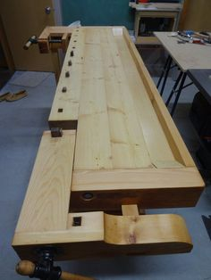 Tage Frid style workbench with hard maple top and the remainder in Douglas Fir. The tray widens the bench to 21 I find that the length and narrow width really . Tool Shop, Take Apart, Small Engine, Woodworking Workbench, Douglas Fir, Cabinet Makers, Pick One, Hydroponics, Indoor Garden