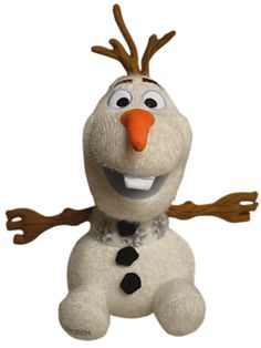 Inspired by the character puppet designed by Michael Curry, this happy snowman features a huggable form with snowflake detailing and coal buttons. Olaf, Puppets, Snowflakes, Snowman, Musicals, Broadway, Frozen, Plush, Toys