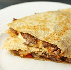 Steak Gorgonzola Quesadillas Recipes #theluckyonesmagazine #food #cooking #recipes