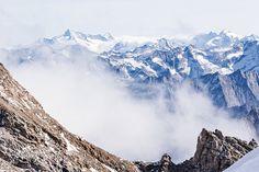 Mount Everest, Mountains, Nature, Travel, Canvas, Products, Mountain Landscape, Clouds, Art Print