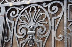 French Louis the 14th style wrought iron grille - Late 19th century | From a unique collection of antique and modern doors and gates at https://www.1stdibs.com/furniture/building-garden/doors-gates/