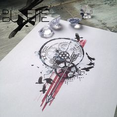 Totally amazing designs by Bunette... Has captured two of my wants for a tattoo perfectly.
