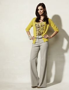I said i want to try color...But i dunno about yellow..But see can get away with bright colors in work outfits