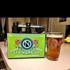 Ninkasi Brewing Co. Spring Reign. A light, hoppy beer for a mild Missoula night.