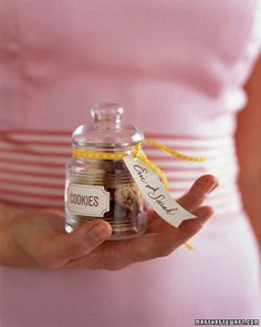 Oh my god...miniature cookies in a miniature jar as wedding favors.