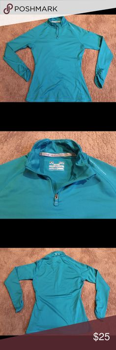 Under Armour Coldgear 1/4 zip Like new. Under Armour Tops