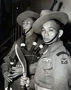 Gurkhas during the Communist Insurgency War in Malaysia (i.e. 1967 - 1989).