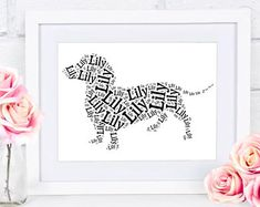 Dachshund Gift Custom Name Word Art Silhouette Doxie Pet Memorial Pet Loss Gifts Personalized Couple Dog Lover Gifts, Dog Gifts, Dog Lovers, Puppy Nursery, Pet Loss Gifts, Cool Dog Houses, Dachshund Gifts, Pet Memorials, Dog Names