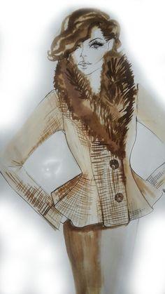 Allison Rodger fur collar tweed jacket