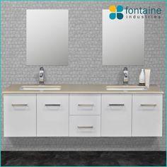 Hudson 1500 Wall Mounted Bathroom Vanity Ceramic Basins Stone Top Renovation Design Ideas Affordable