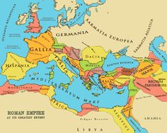 The Roman Empire at its Greatest Extent - A Political Map of Rome's Provinces And Its Surrounding Areas .