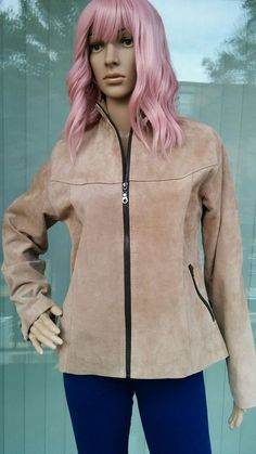 e1c67a4b785 Beautiful Suede Leather Jacket - Desert Color - Size M Petite