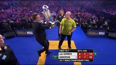 Crazy Scene Where Random Fan Steals Trophy At World Darts Championship