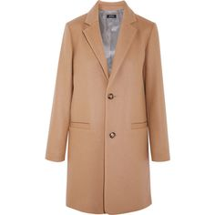A.P.C. Atelier de Production et de Création Carver wool-blend coat (1.820 BRL) ❤ liked on Polyvore featuring outerwear, coats, camel, a p c coat, beige camel coat, beige coat, camel coat and wool blend coat