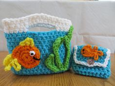 Girls Purse with a Fish Coin Purse.  Fish by Acrochetaddiction