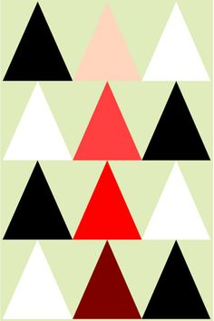 Black White And Reds Triangles  A4  Abstract by susanjeanpeters, $16.34