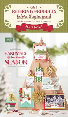 Stampin Up! Holiday Catalogue available until January 4th 2016. Retirement List now available in this post/ #stampinup #stampinupaus #colourmehappy
