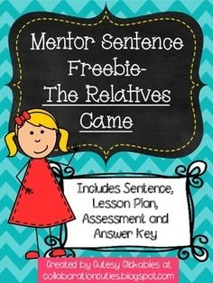 Mentor Sentences are a FUN and ENGAGING way to teach students about grammar and writing! They model awesome sentences by favorite authors.